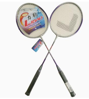 厂家批发 力豹铁合金全一体拍 初级训练拍 学生家庭羽毛球拍