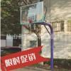 厂家直销室外篮球架 户外成人地埋式篮球架 学校埋地圆管篮球架子