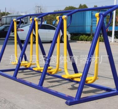 厂家供应 户外公园健身器材 健身路径 三人漫步机