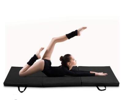 厂家直销皮革体操垫 定制加厚防滑加厚海绵体操垫 折叠体操垫