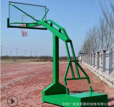 厂家直销篮球架 室内标准成人平箱篮球架 移动箱体篮球架