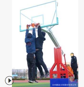 成年家用比赛篮球架 户外 标准 成人 移动室内仿液压平箱篮球架子