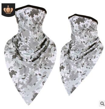 冰丝冰爽迷彩三角巾户外骑行防风面罩军迷战术头巾特种兵防晒脖套
