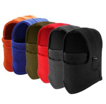 直售抓绒加厚cs面罩秋冬保暖护脸头套户外骑行防风飞虎帽可定制