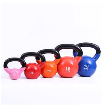 彩色健身壶铃男女士烤漆壶铃球浸塑力量训练肌肉锻炼家用壶铃