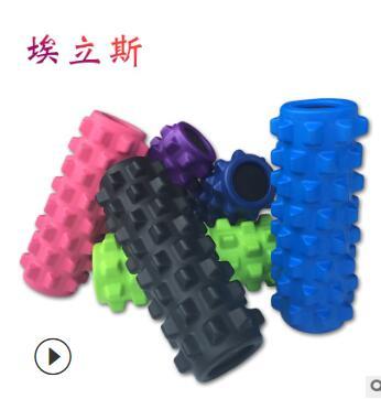厂家直销批发EVA健身实心狼牙棒泡沫轴瘦身按摩瑜伽柱