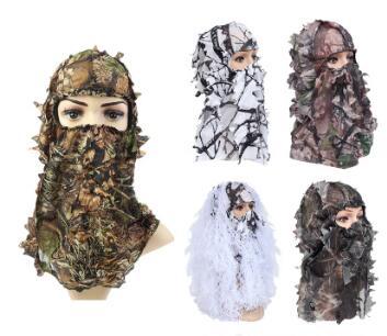 2020狩猎迷彩伪装面罩 Amazon Ebay跨境热销户外3D树叶迷彩头套