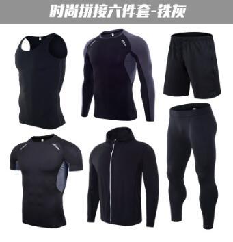 丝格图运动套装男 紧身运动男士健身短裤 速干跑步T恤训练运动装