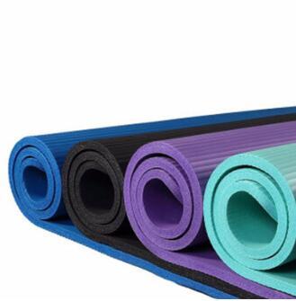 厂家直销nbr瑜伽垫183*61*10mm环保加宽加厚NBR瑜珈垫健身垫