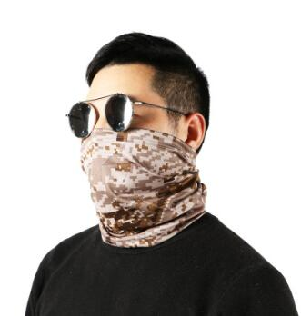 户外运动骑行防护 迷彩面罩多功能围脖防尘降温冷感围脖