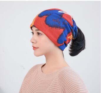 多功能保暖秋冬纽帽骑行防风寒包头巾女月子帽护头睡帽堆堆帽
