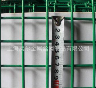 5厘米孔浸塑电焊网片绿色包塑铁丝网
