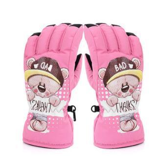 批发滑雪玩雪男女童防风防水防滑保暖舒适耐磨儿童手套