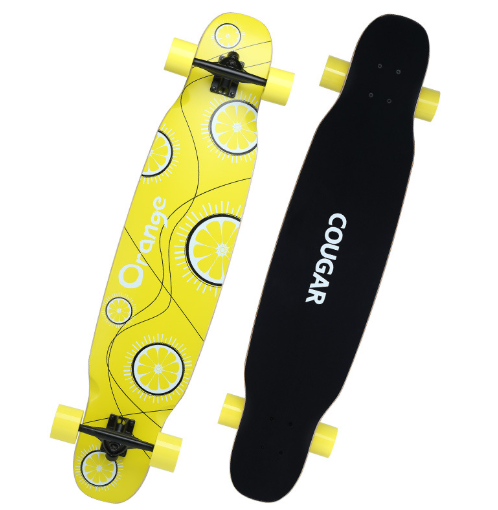 美洲狮长板滑板四轮成人儿童青少年抖音男女舞板公路刷街滑板车