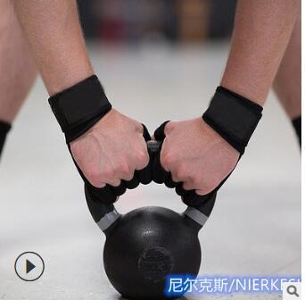 举重健身手套跨境外贸专业定制运动护掌腕带哑铃健身手套健身护掌