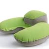 现货批发赠品PVC植绒子母枕带绒袋 午休吹气护颈枕 旅游U型充气枕