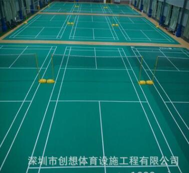 专业施工室内PVC羽毛球场 PVC地面 包工包料 质量保证