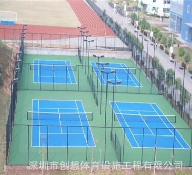 运动球场设计羽毛球场设计选创想体育羽毛球场地工程厂家