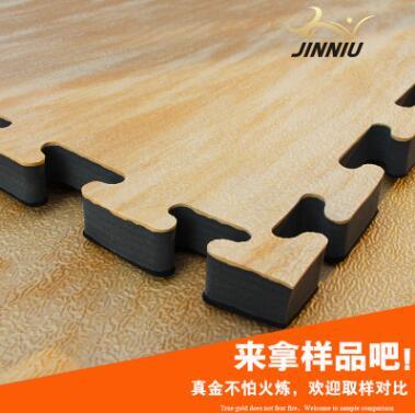 跆拳道垫子木纹2.5CM金牛高密度加厚EVA跆拳道地垫1米*1米