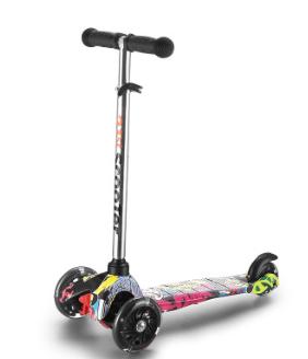 厂家四轮儿童滑板车闪光折叠单脚滑滑车可升降米高摇摆车批发童车