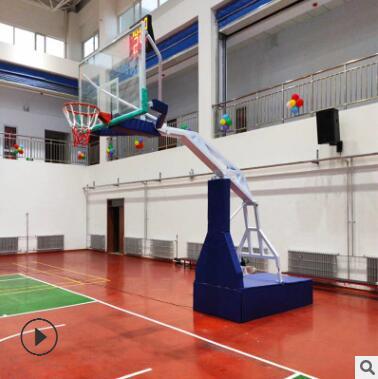 液压篮球架 现货供应学校体育场用比赛标准篮球架 手动液压篮球架