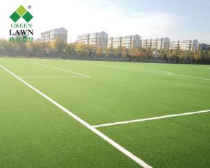 格林厂家学校运动场草坪人造草坪足球场免充砂人工草坪可施工定制