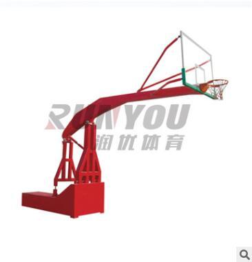 新款室内电动液压篮球架 比赛训练篮球架 体育馆专用篮球架