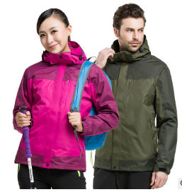 户外冲锋衣男女款三层压胶可拆卸保暖两件套三合一登山服定制LOGO