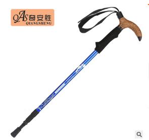 【奇安胜DS8101】铝合金三节伸缩避震登山杖弯柄拐杖户外徒步手杖