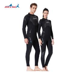 2020新款1.5mm潜水服男连体保暖冲浪服防晒女长袖浮潜水母游泳衣