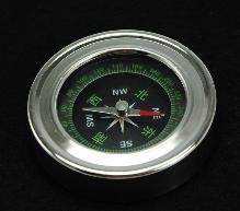 批发60mm金属不锈钢中文英文指南针 指北针 罗盘 不锈钢结构