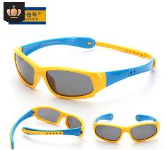 批发2020新款硅胶儿童太阳镜偏光骑行运动太阳眼镜宝宝墨镜 8110