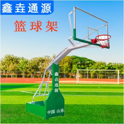 定制户外成人标准比赛用篮球架可移动少年钢化平箱式仿液压篮球架