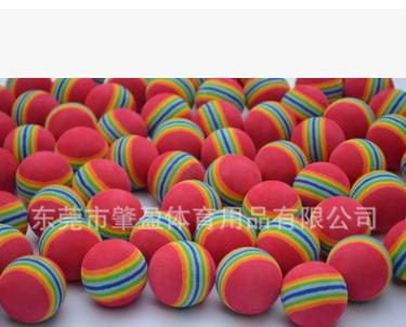 厂家直销 高尔夫海绵球 高尔夫彩虹球 高尔夫EVA球 室内用球