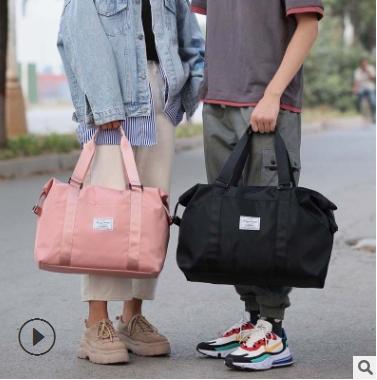 短途旅行包手提大容量轻便运动健身包套拉杆行李包女士旅游袋批发
