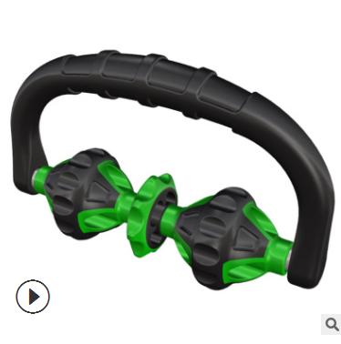 手持按摩器 U型三轮按摩器办公久坐颈椎按摩 家用经络按摩器