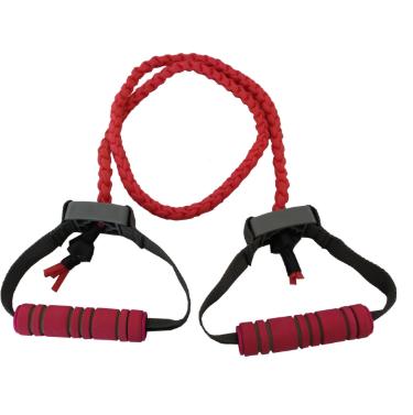 工厂直销TPR编织弹力绳一字型拉力器力量锻炼健身运动拉力绳