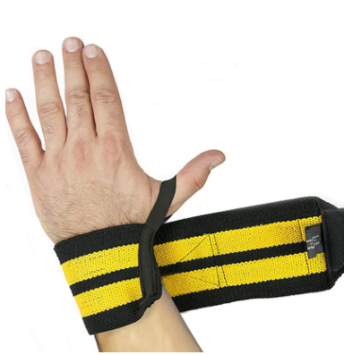 厂家直销运动护腕健身助力带弹性绑带护腕缠绕举重加压护腕绷带