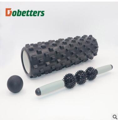 空心狼牙形瑜伽柱按摩棒筋膜球套装空心泡沫轴平衡棒普拉提瑜珈轴