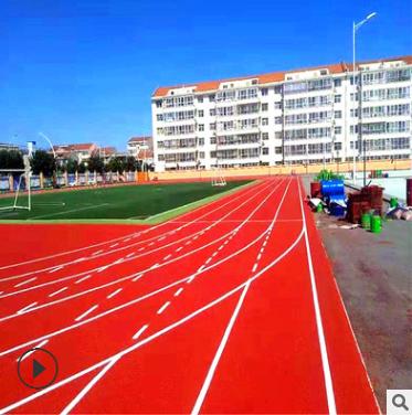 舒伯特新国标耐磨环保透气型塑胶跑道材料学校标准塑胶跑道