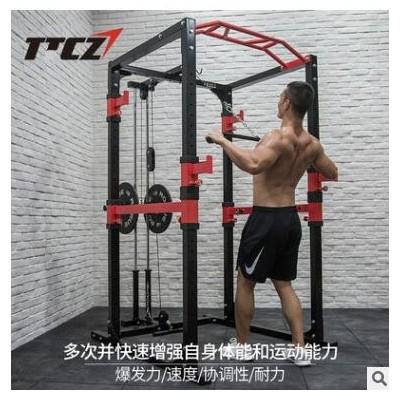 深蹲卧推训练架 引体综合健身房器材