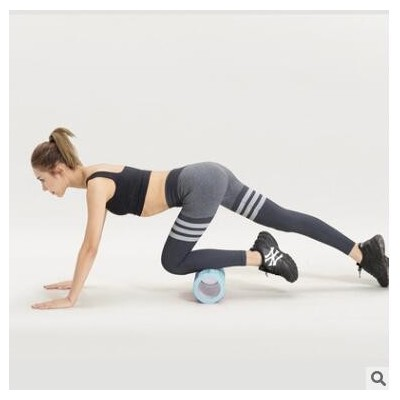 厂家肌肉放松泡沫轴瑜伽按摩器空心瑜伽柱滚腿轴健身狼牙棒套装
