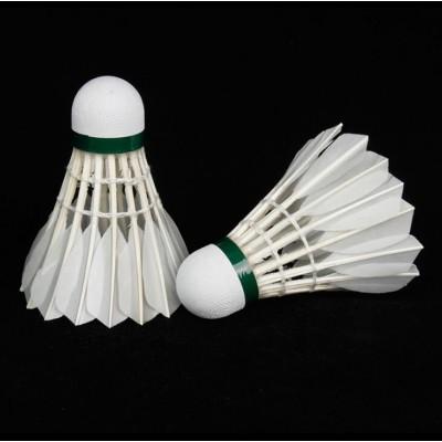厂家直供12只装羽毛球结实耐打球馆训练羽毛球学生用球比赛羽毛球